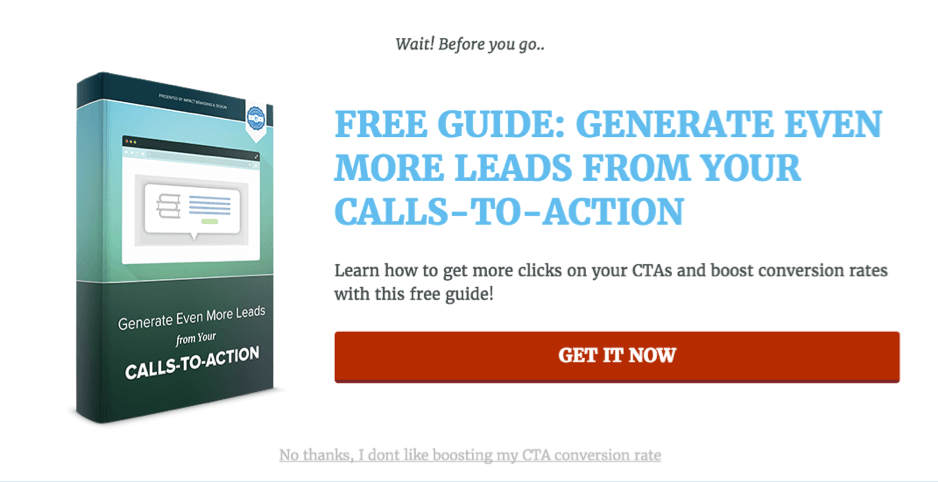 Effective call to action buttons. Lead Generation CTA examples