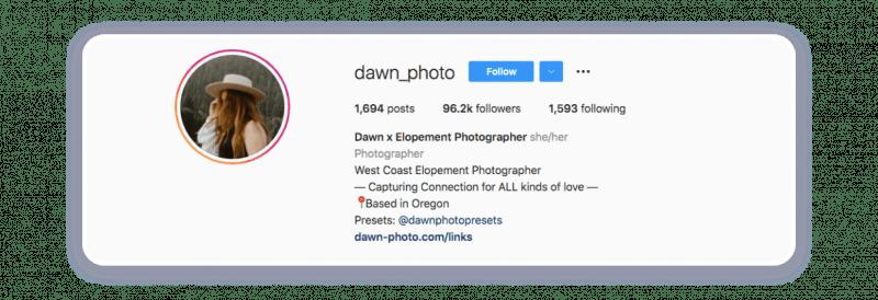 Instagram bio that will speak for itself