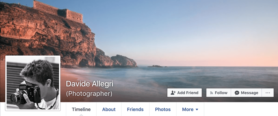 How to promote photography business on Facebook. Personal page