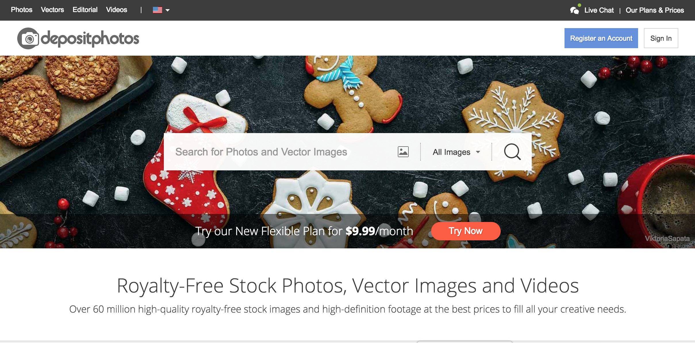 Stock photo website Depositphotos
