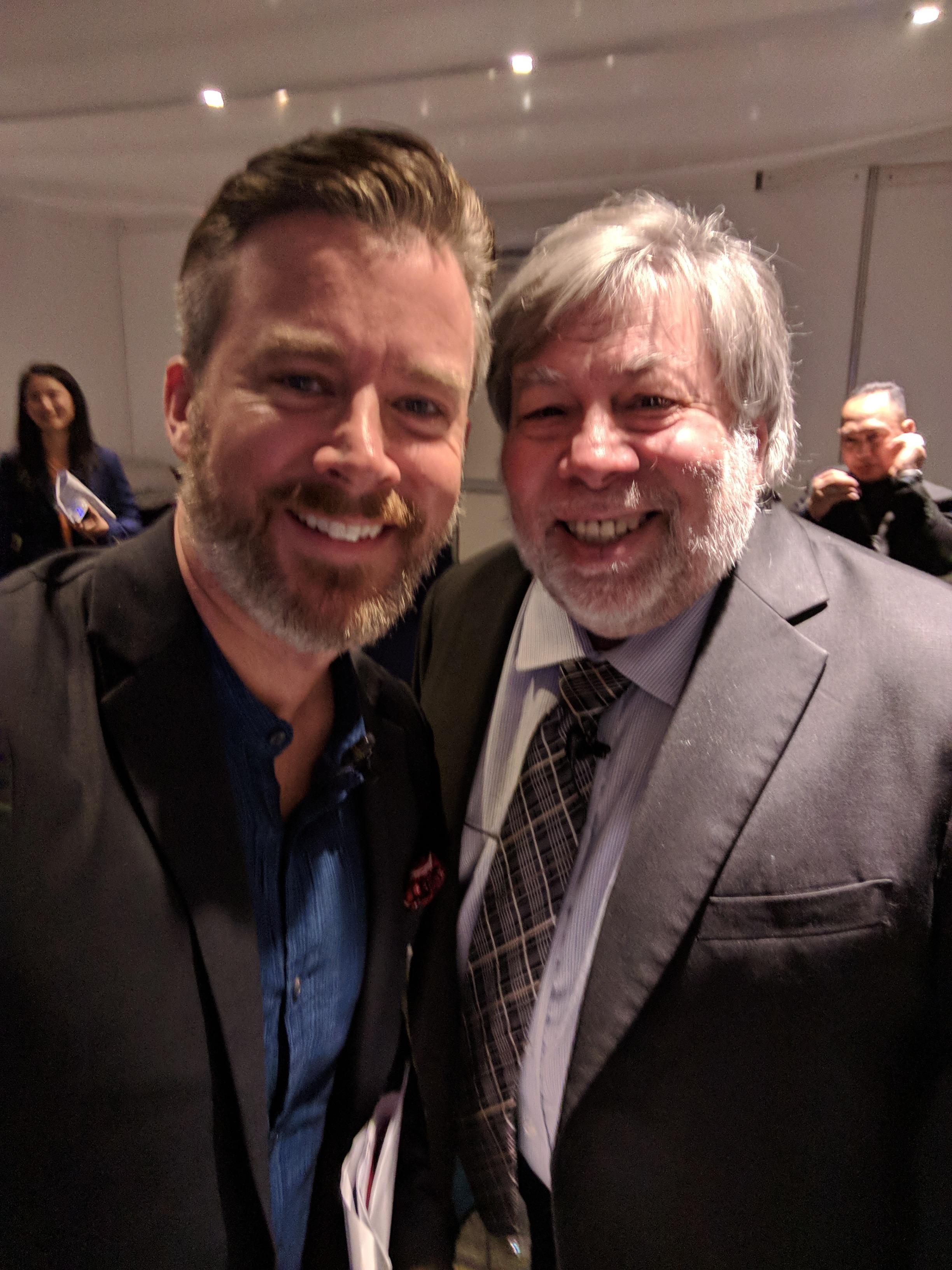 Daniel Sieberg with Steve Wozniak