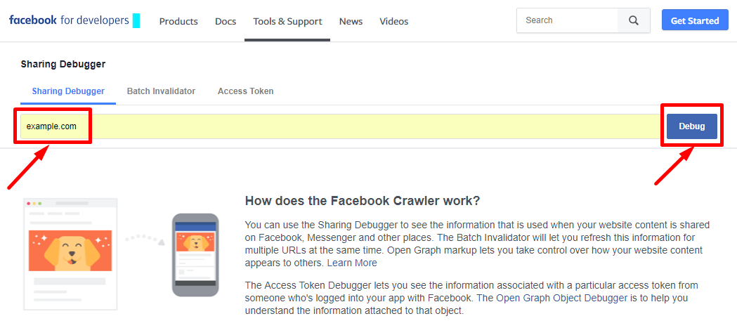 Update Facebook Link Preview. Use Facebook Sharing Debugger