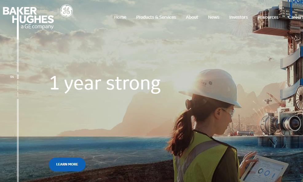 Bucker Hughes Engineering company - Weblium