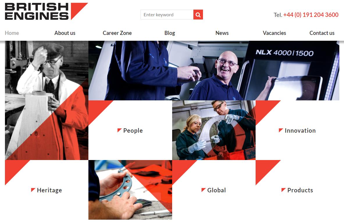 British Engines website - Weblium