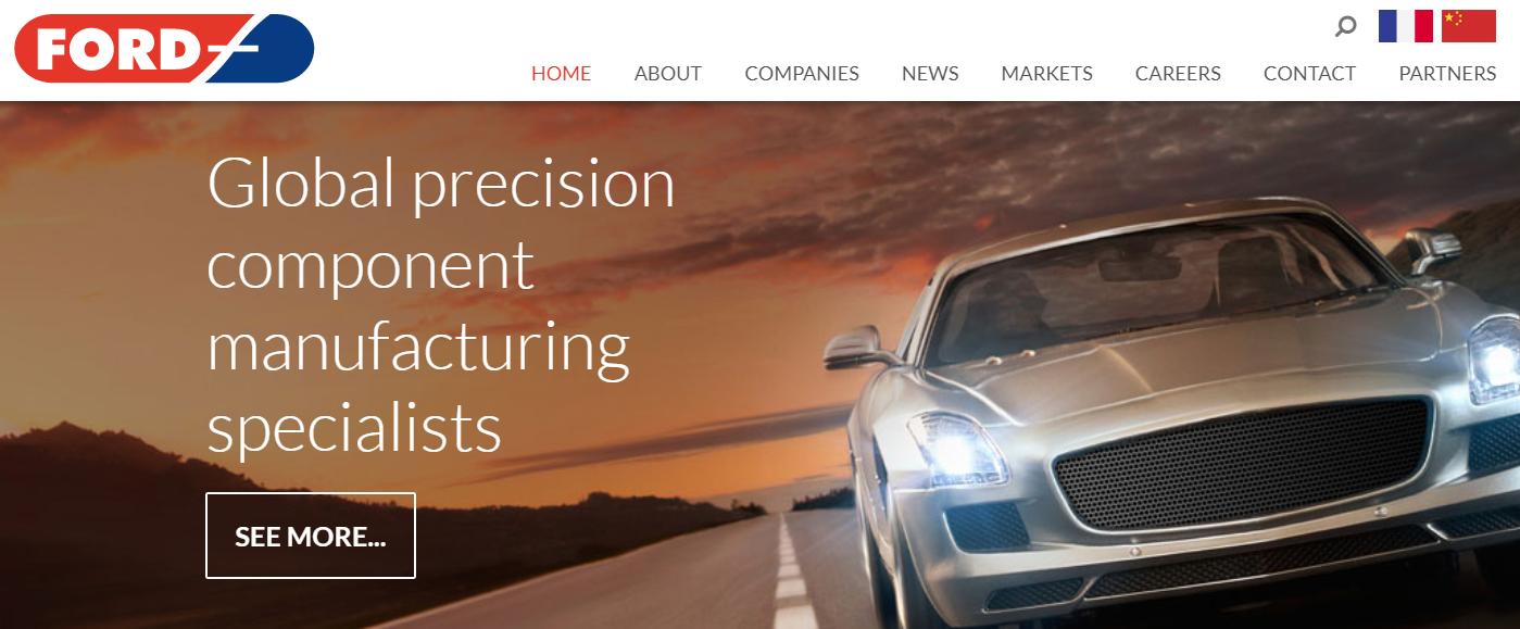 ford engineering website - weblium