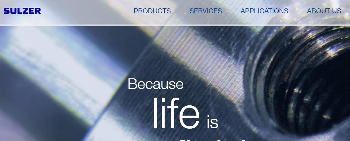 Sulzer - Engineering website