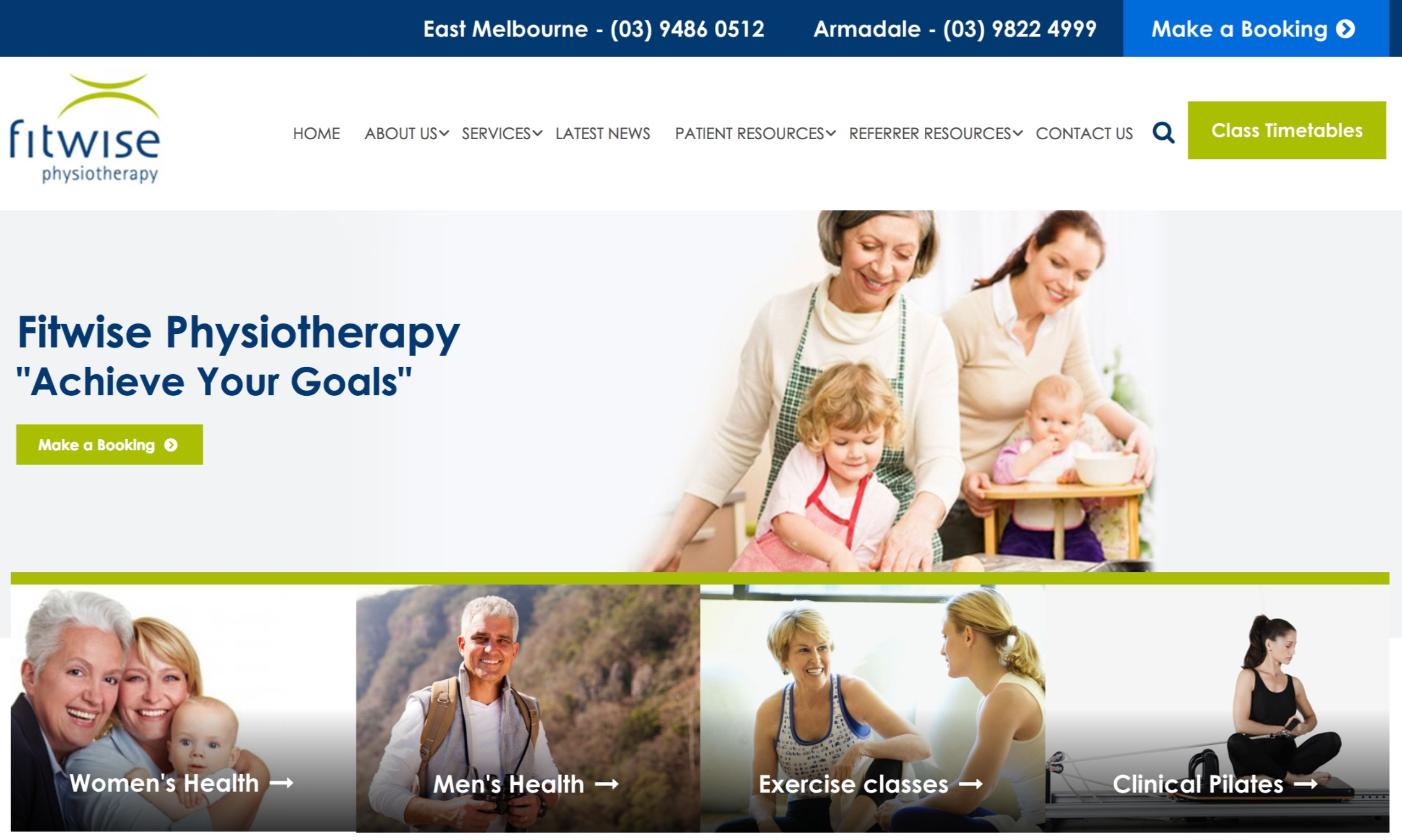 Fitwise Physiotherapy - best medical website design