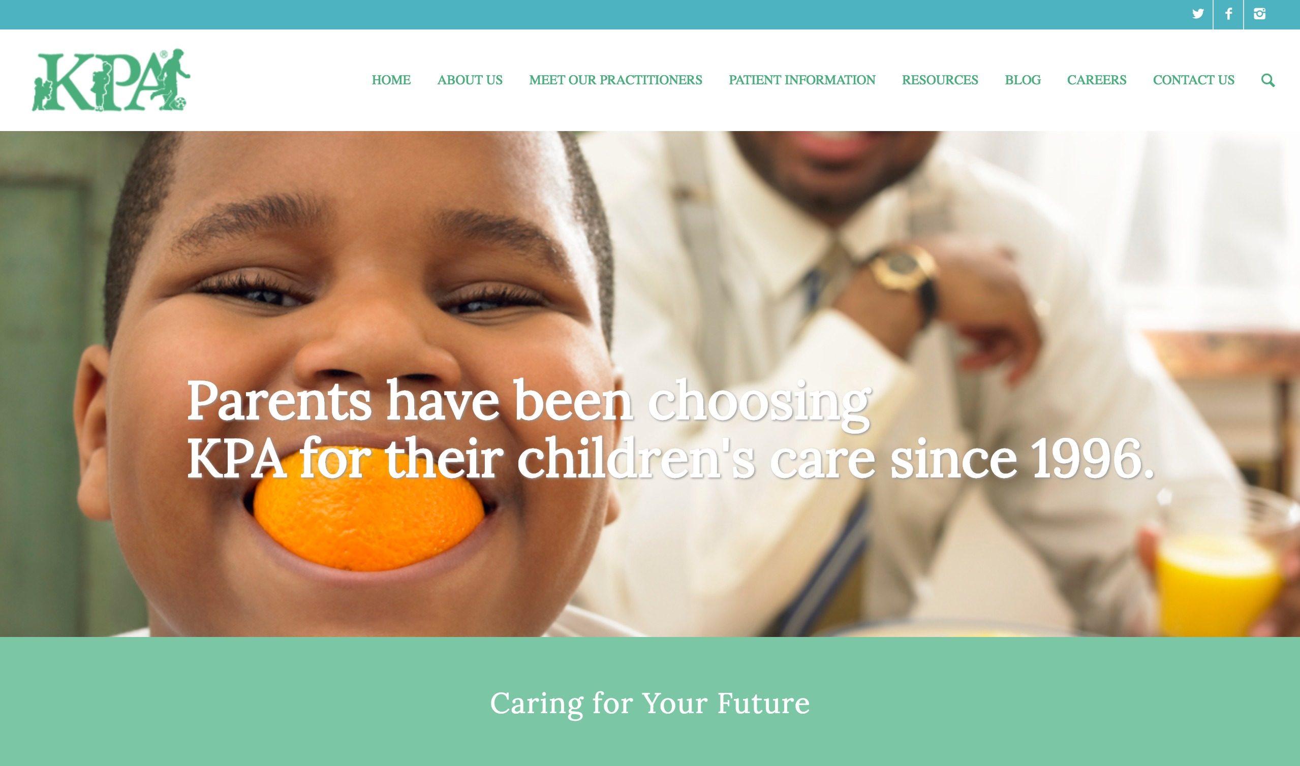 Knoxville Pediatric Associates website - weblium