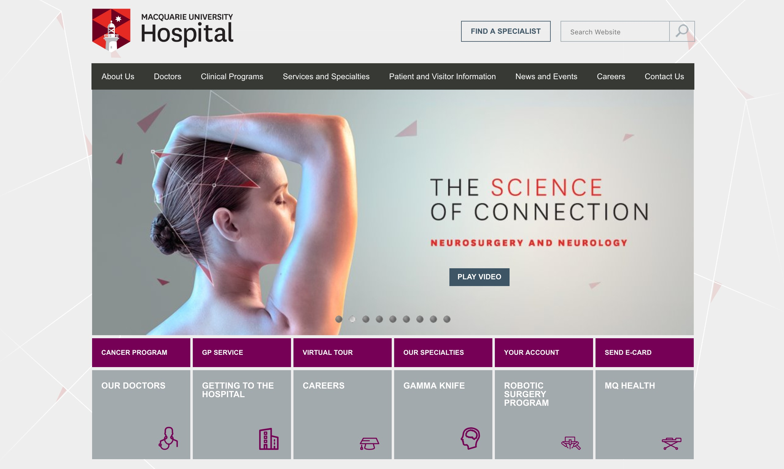 Macquarie University Hospital website - weblium