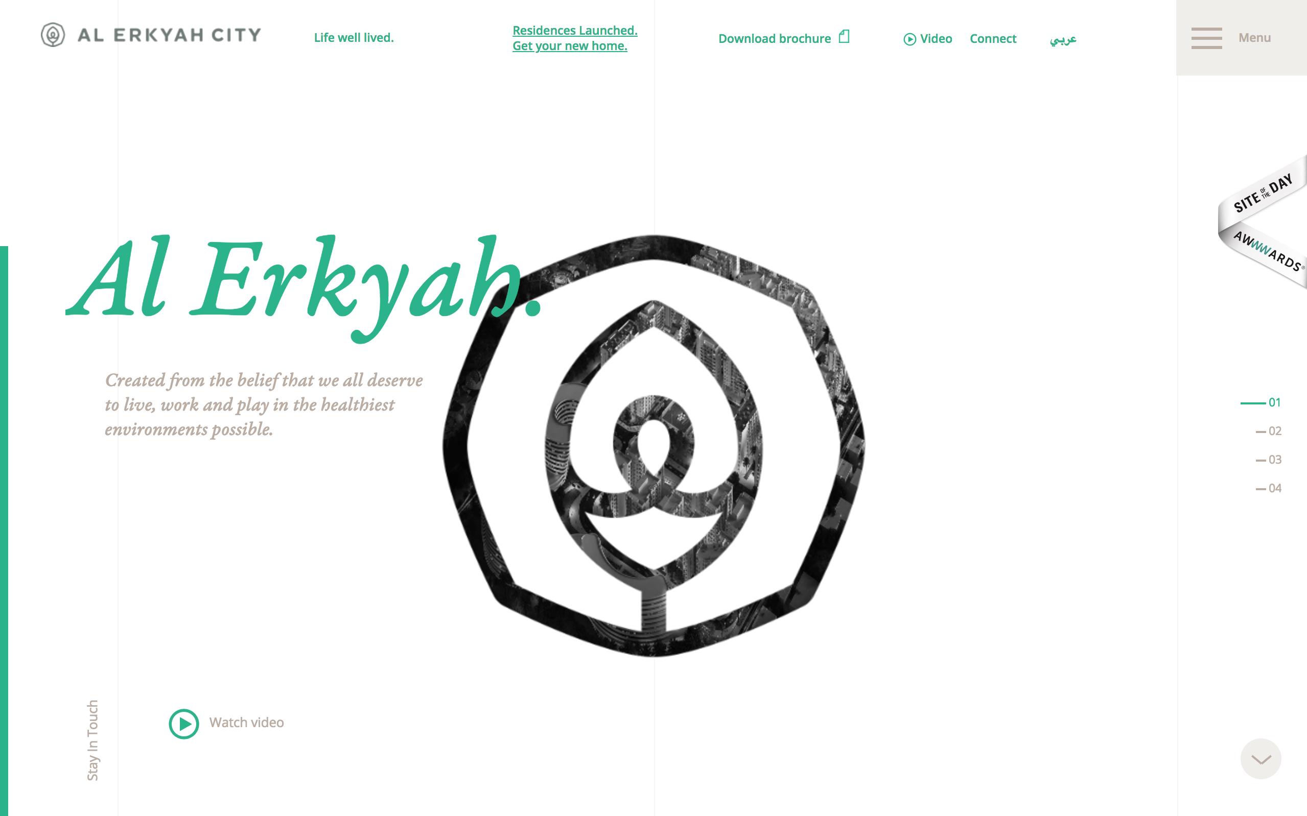 best architecture firm websites. al erkyah city