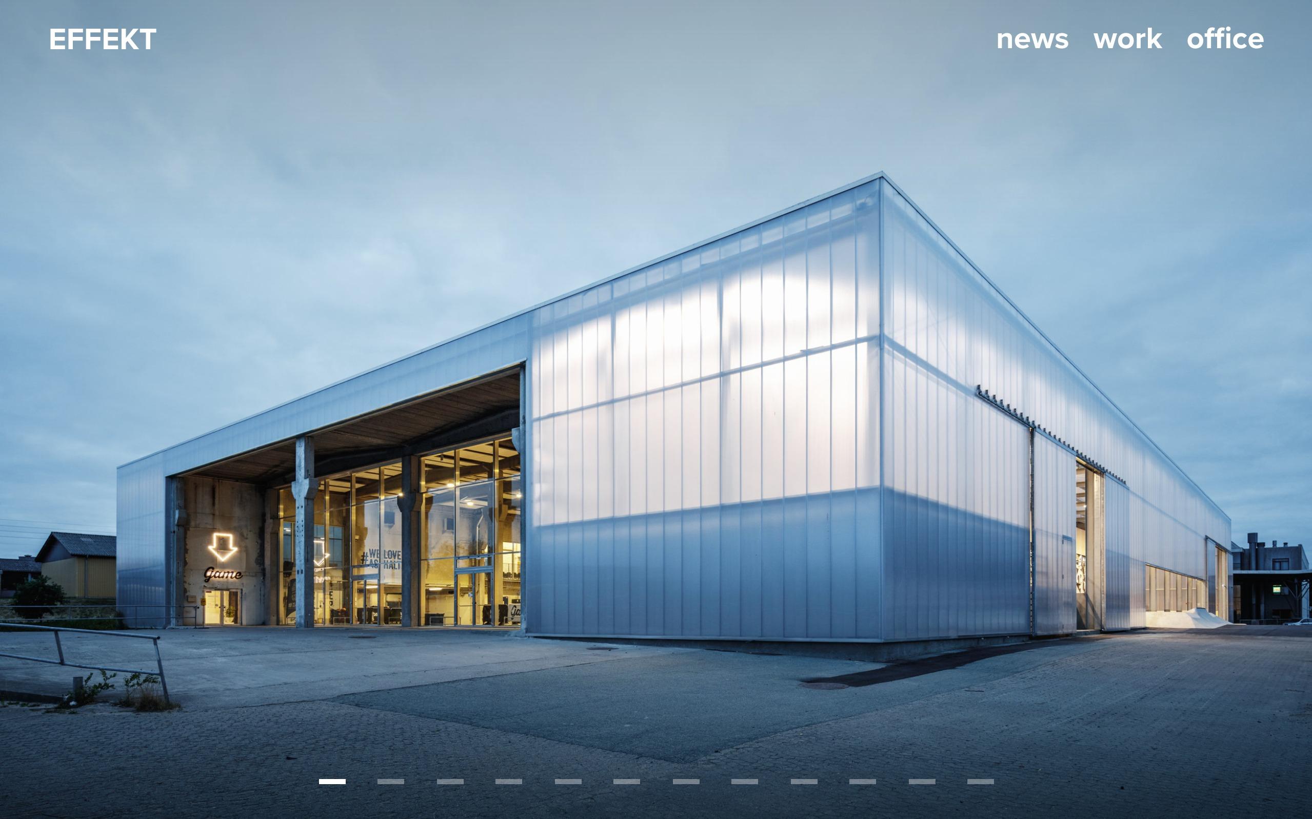 best architecture firm websites. effekt
