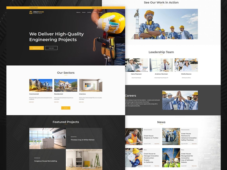 17+ Engineering Website Design Examples (2020) - Weblium Blog