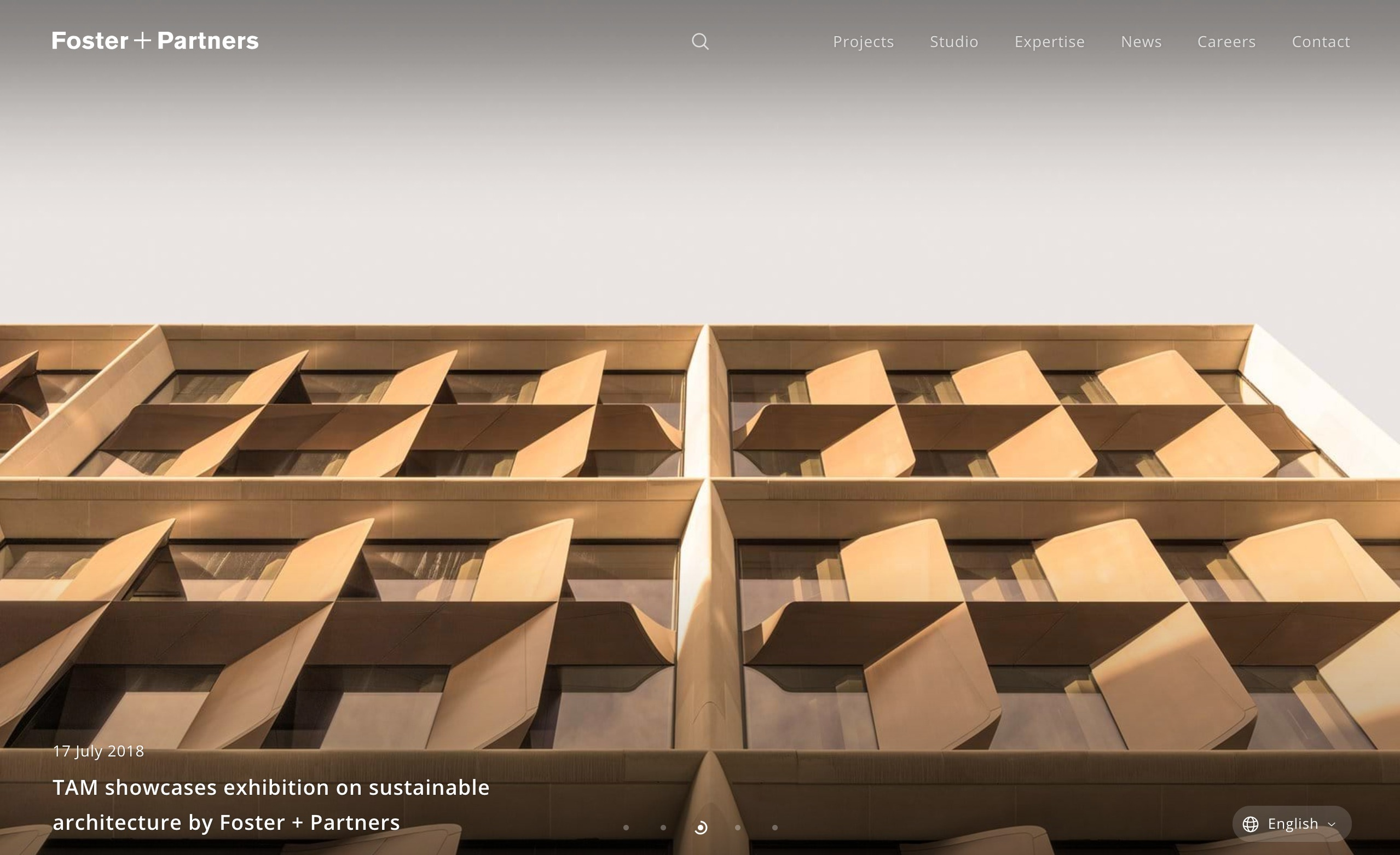 best architecture firm websites. foster and partners