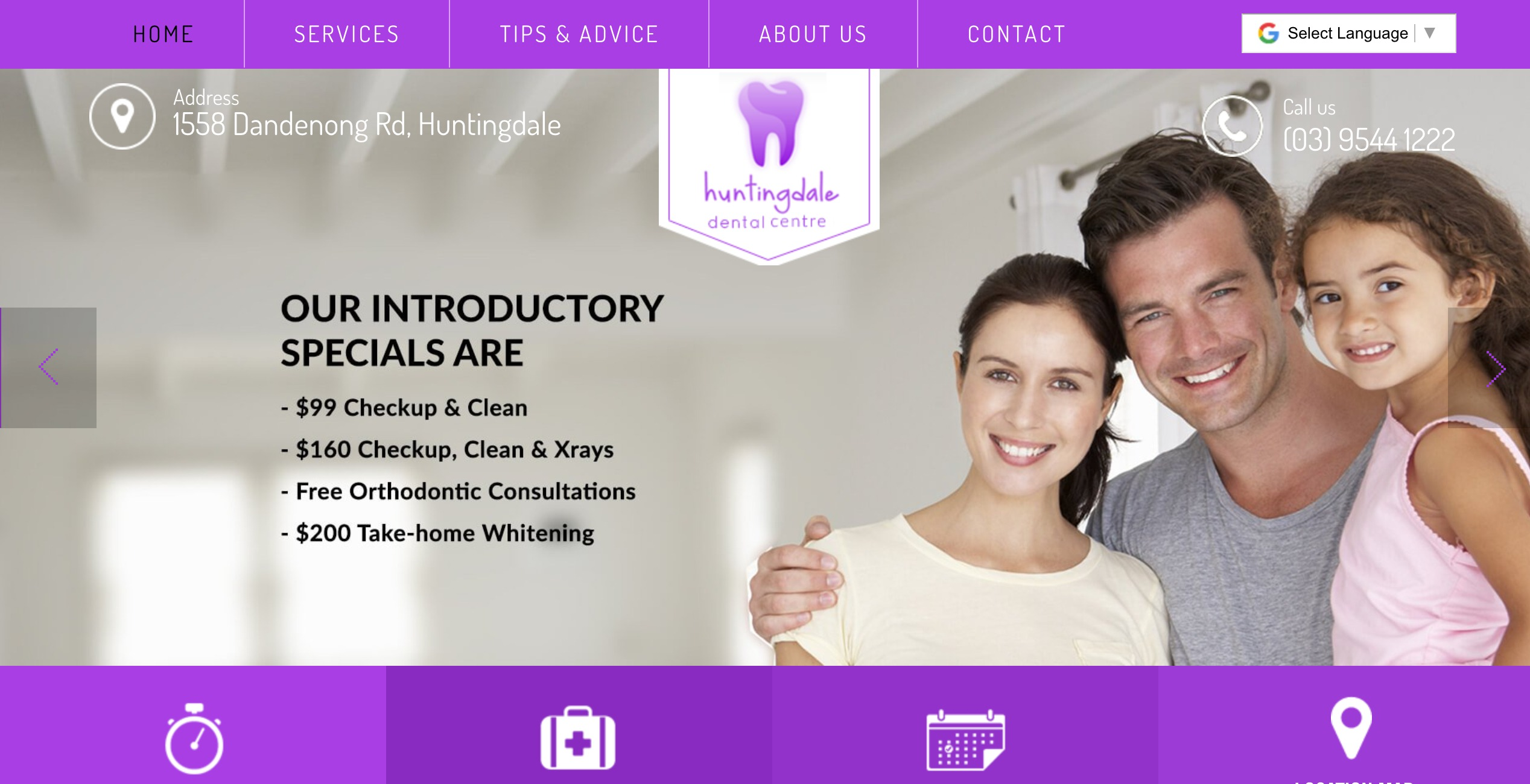 huntingdale dental centre website - weblium