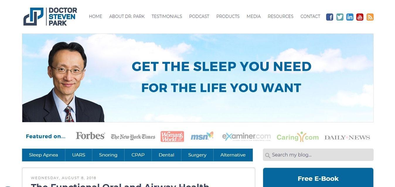 Doctor Steven Park - good medical website design example - Weblium
