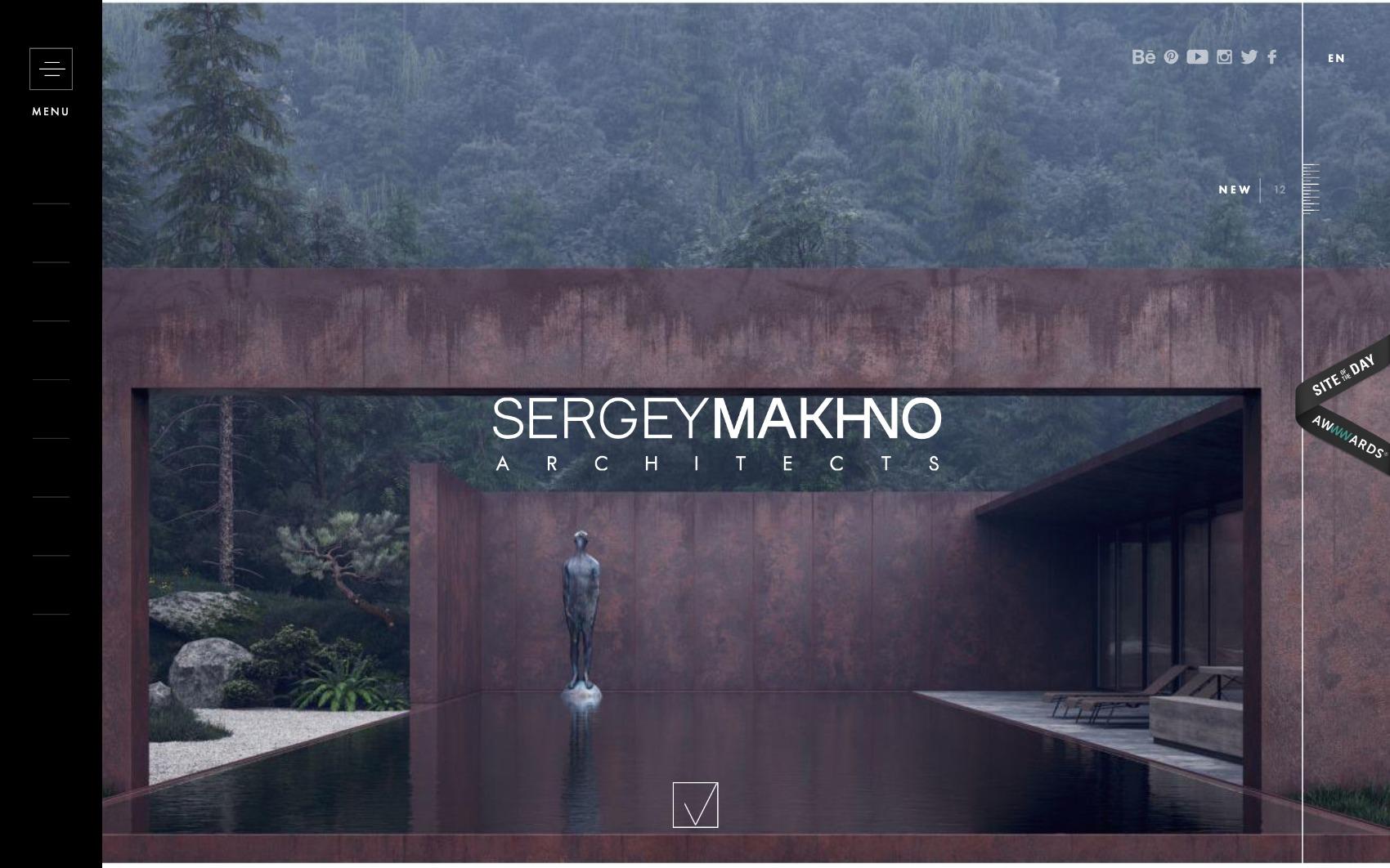 best architecture firm websites. makhno