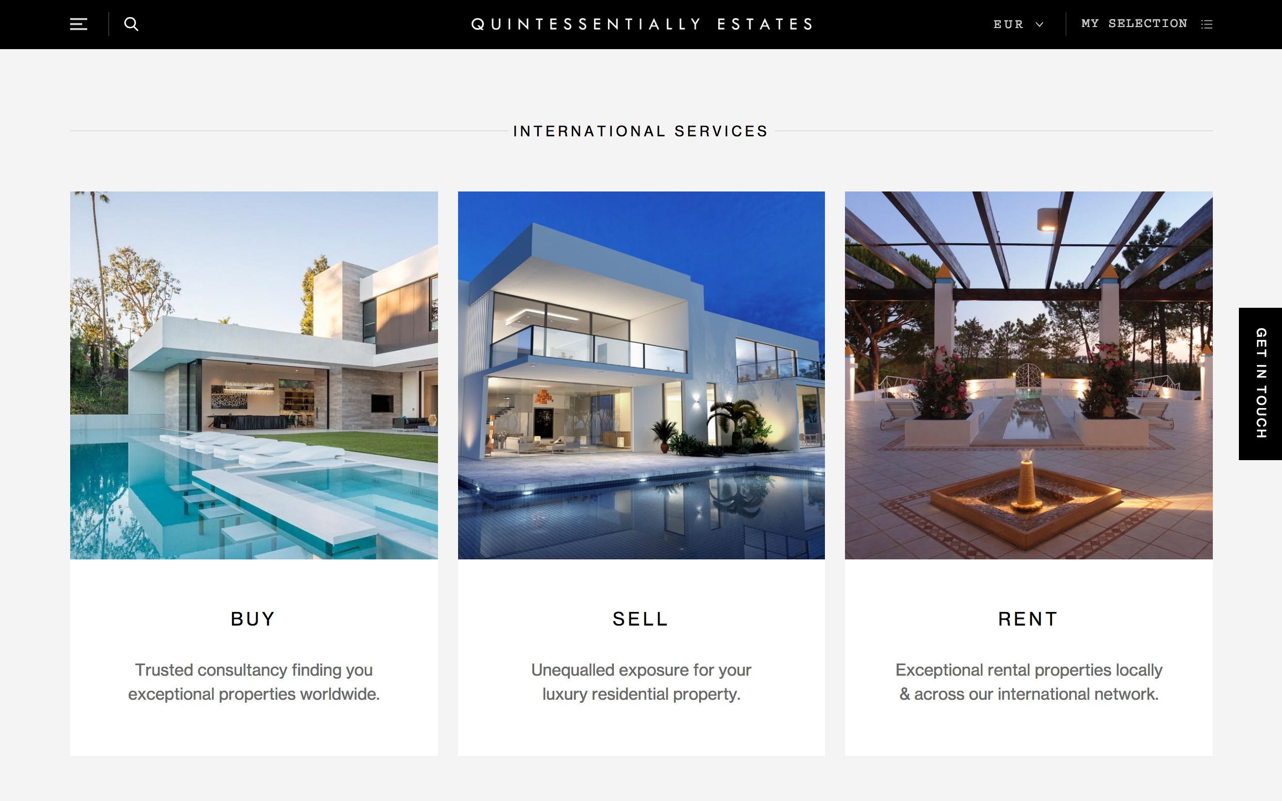 best architecture firm websites. quintessentially estates