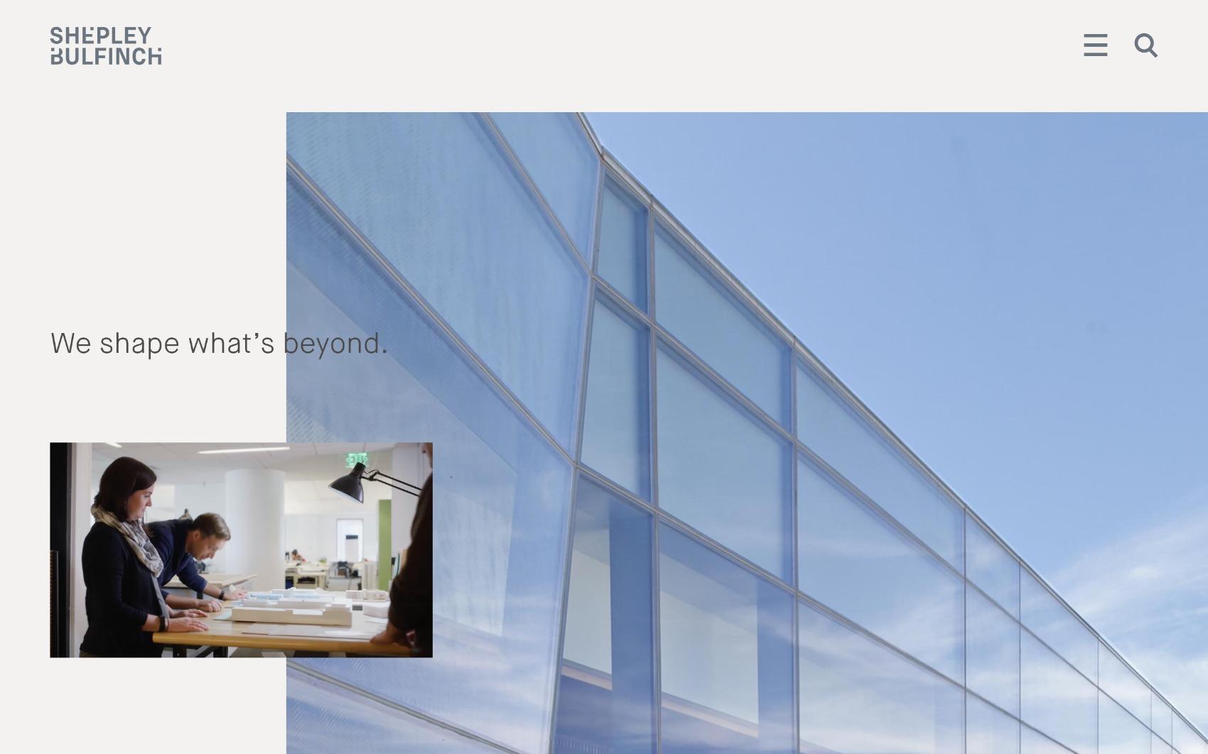 best architecture firm websites. shepley bulfinch