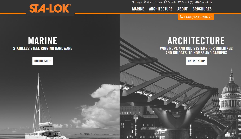 Sta Lok engineering website - Weblium