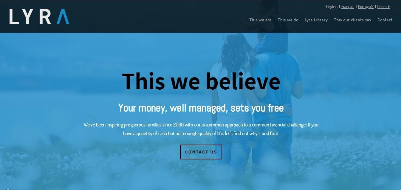 Lyra wealth management - weblium