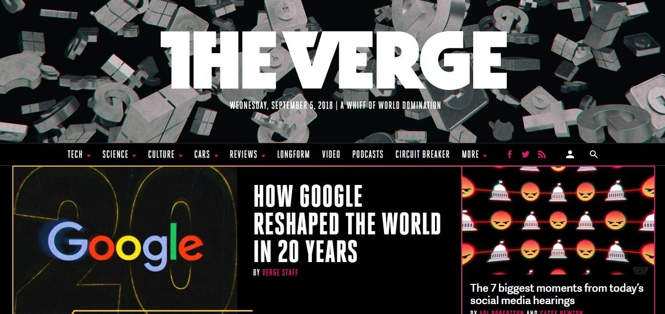 The verge examples - weblium