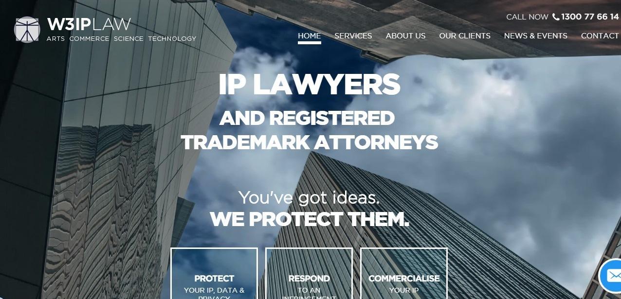 W3IP Law website - weblium