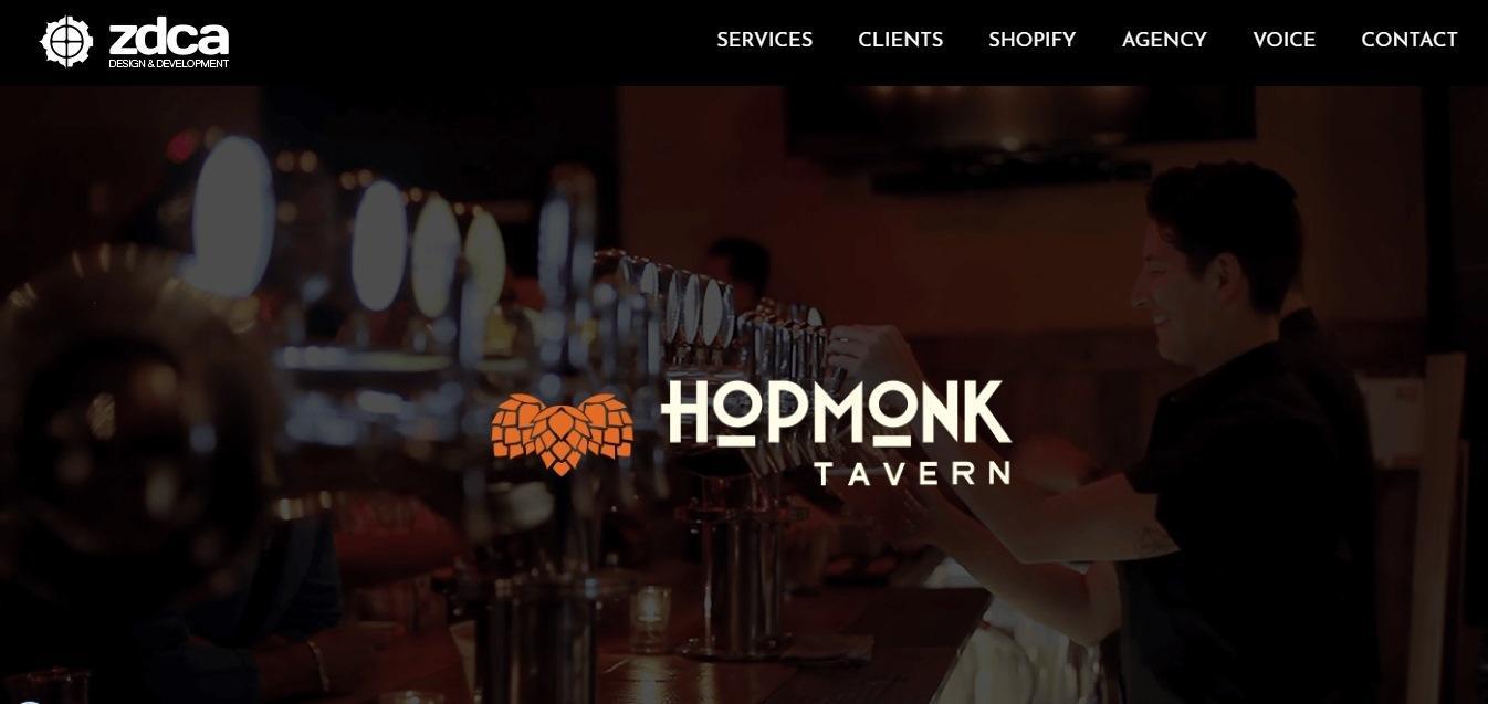 Hopmonk Tavern website - weblium