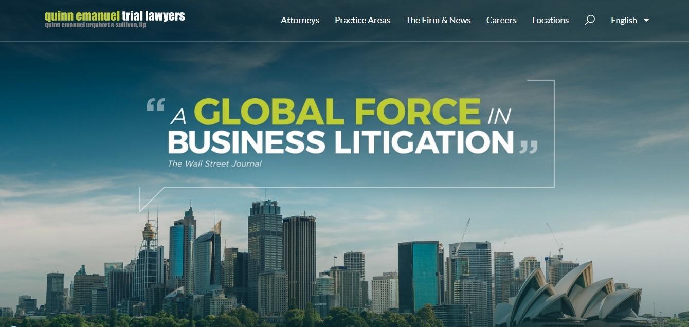Quinn Emanuel Trial Lawyers - weblium