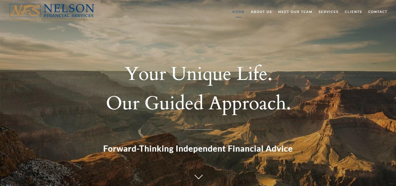 Nelson Financial Services website - Weblium