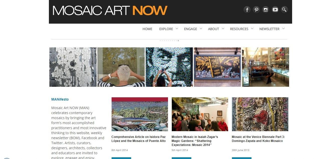 Mosaic art now - weblium website