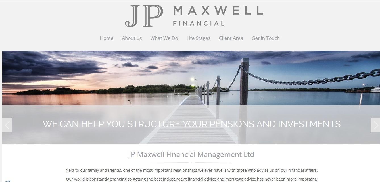 JP Maxwell Financial website - Weblium