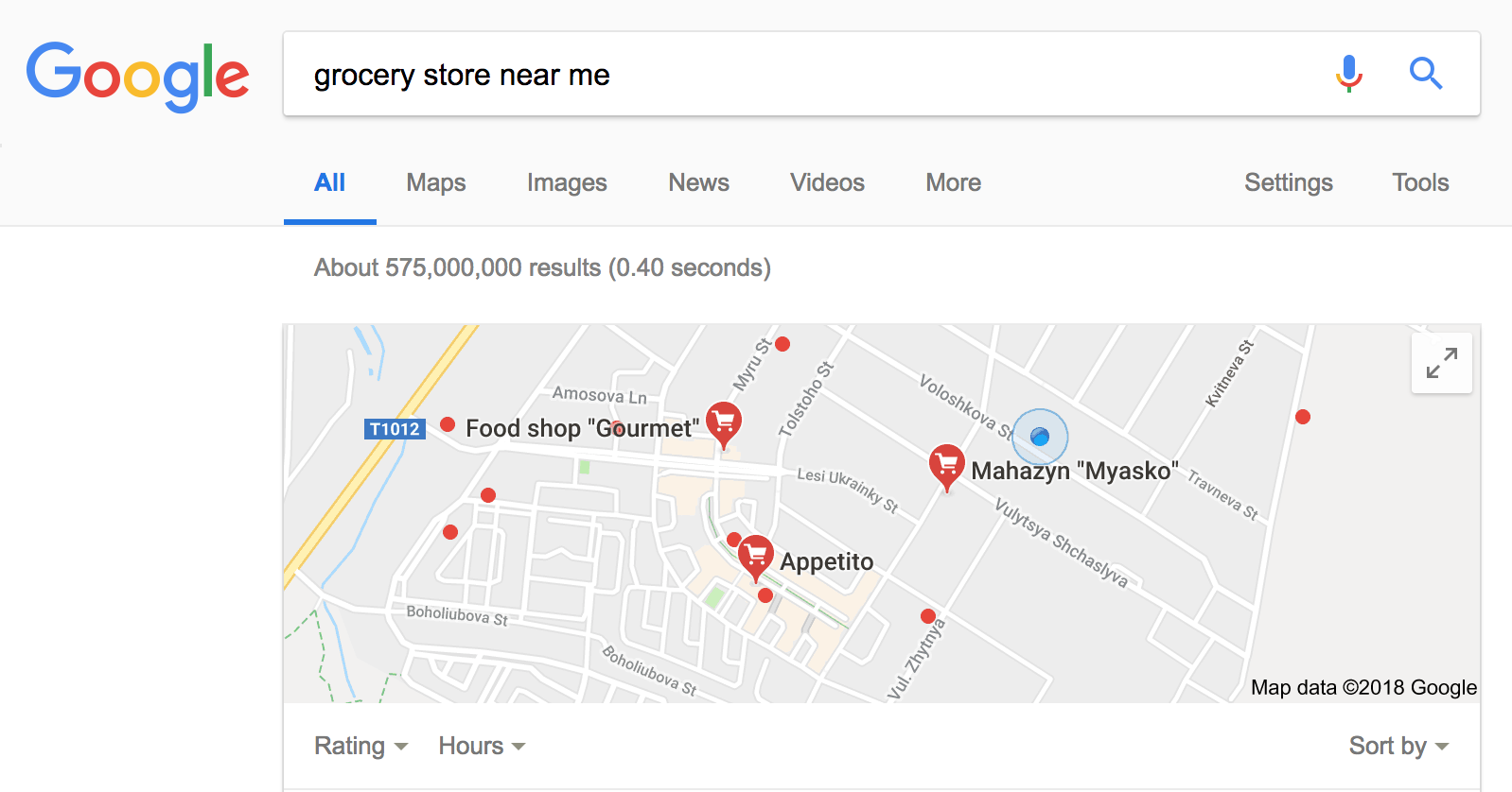 Google Maps seo example - weblium