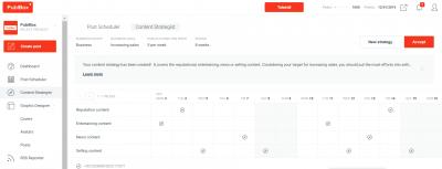 Content plan for social media marketing