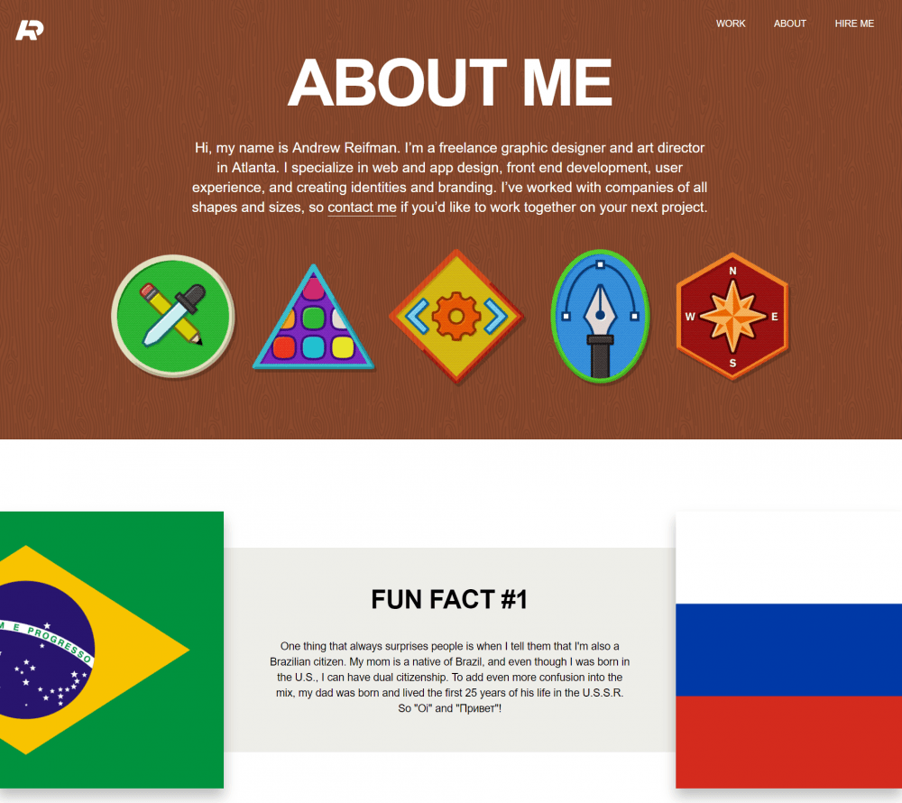 about me page examples - weblium