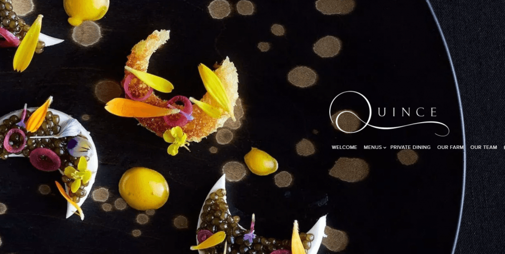 restaurant example - weblium