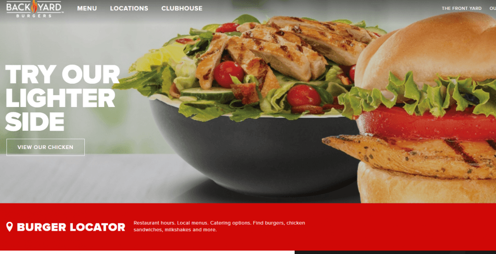 Black Yard Burgers restaurant | weblium