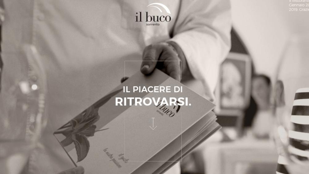 Il Buco restaurant website | Weblium