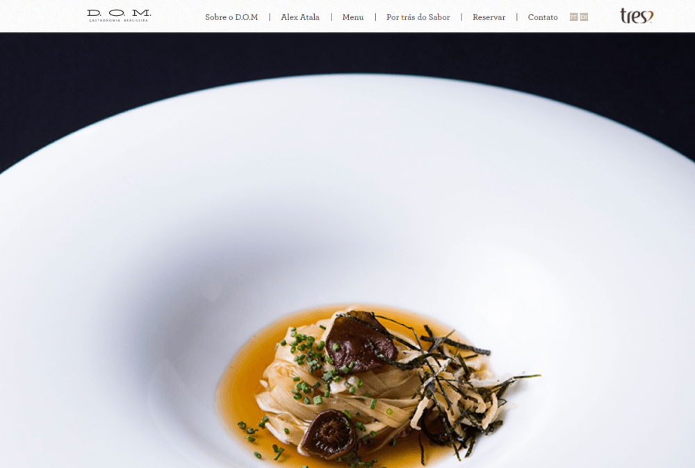D.O.M. - restaurant website example