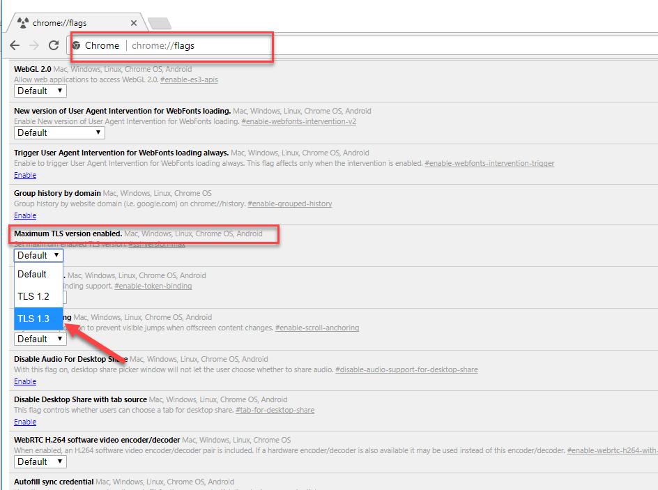 Change your TLS version