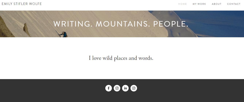 freelance writer website examples
