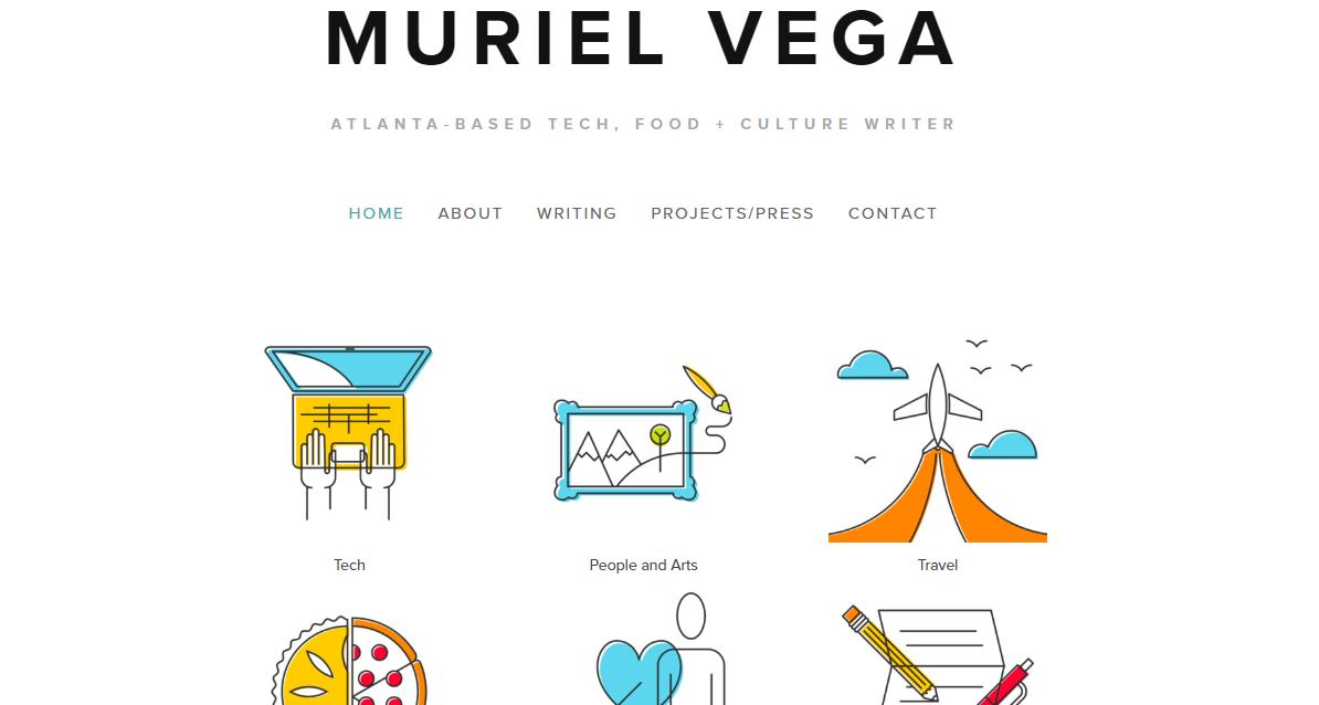 freelance writer website examples - weblium