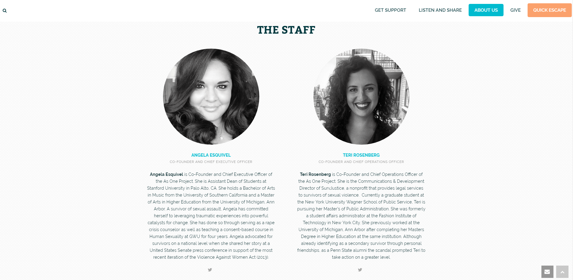 staff page - nonprofit website - weblium blog