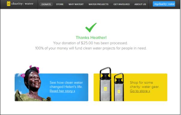 thank you page example - weblium blog