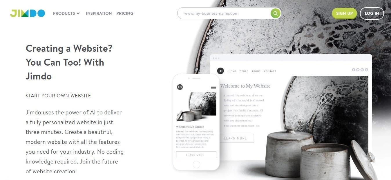jimdo review - weblium blog