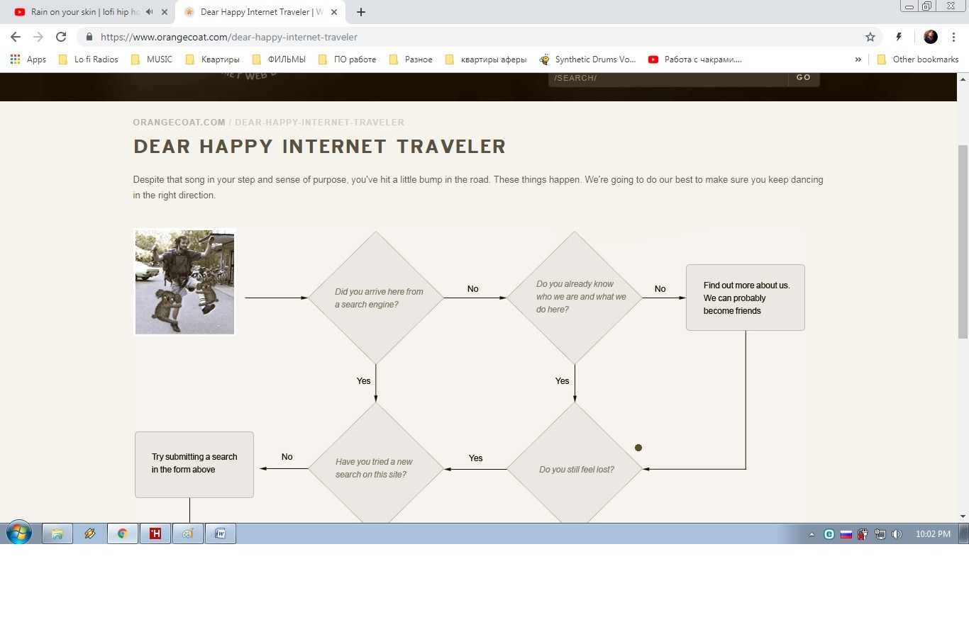 Orange Coat: best creative/guiding 404 page