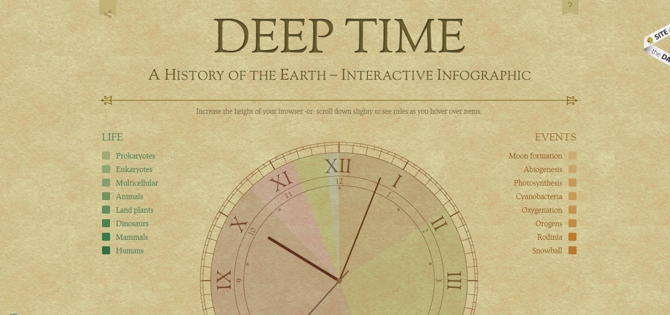 Deep Time: best engaging/educational 404 page