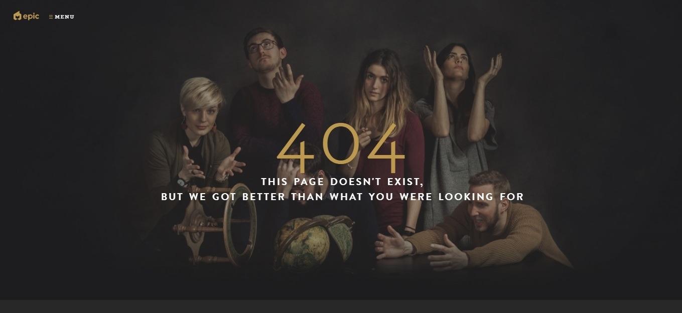 Epic: best staff 404 page - weblium blog