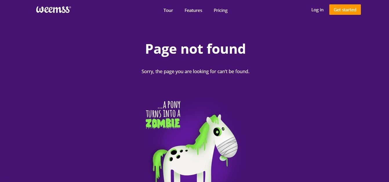 best touching 404 page - weblium blog