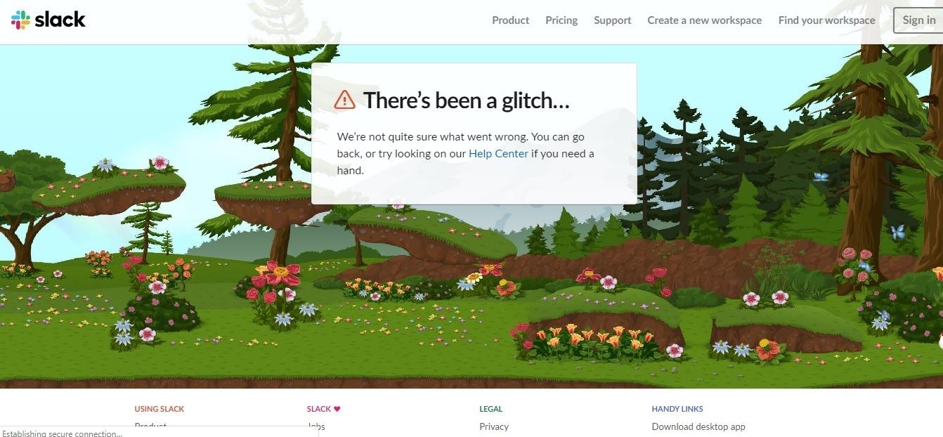 slack 404 page - weblium blog