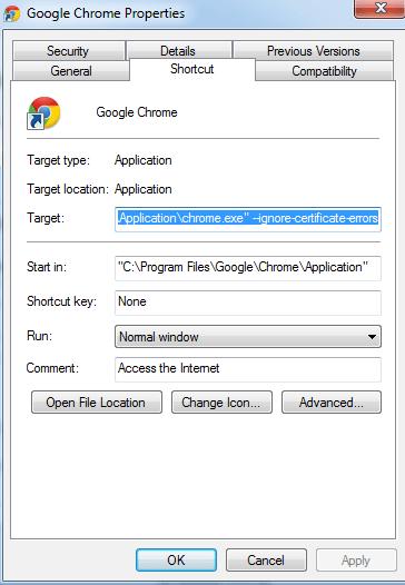 Disable SSL in Chrome - weblium blog